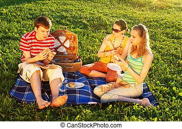 ピクニック, 友人