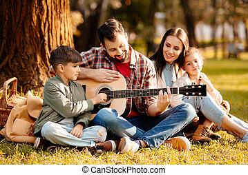 ピクニック, 子供, 家族