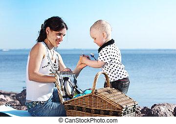 ピクニック, 家族, 幸せ