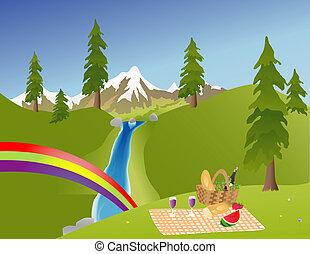 ピクニック, 山で