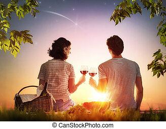 ピクニック, 恋人, 一緒に