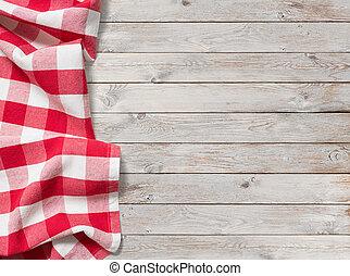 ピクニック, 木, 背景, テーブルクロス, 白い赤