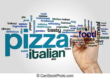 ピザ, 単語, 雲