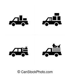 ピックアップ トラック, 輸送, アイコン