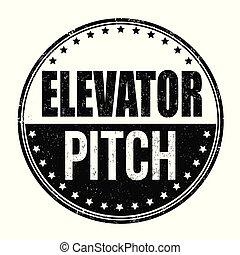 ピッチ, 切手, グランジ, エレベーター, ゴム