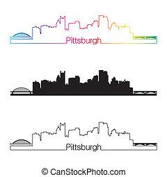 ピッツバーグ, 虹, スタイル, スカイライン, 線である