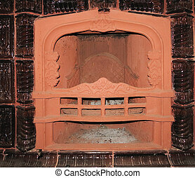 ピラスター, 炉, 暖炉, 贅沢, クラシック