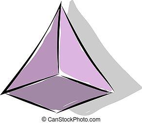 ピラミッド, イラスト, 白, ベクトル, バックグラウンド。