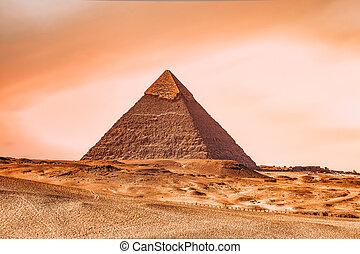 ピラミッド, エジプト, ギザ, khafre