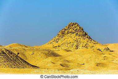ピラミッド, エジプト, -, userkaf, saqqara, 光景