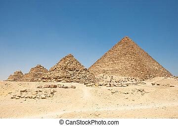ピラミッド, ギザ, ピラミッド, 女王, menkaure