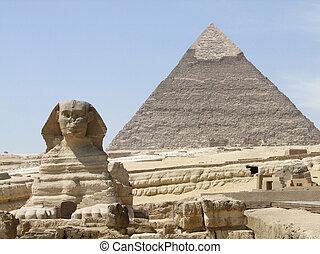 ピラミッド, スフィンクス, khafre