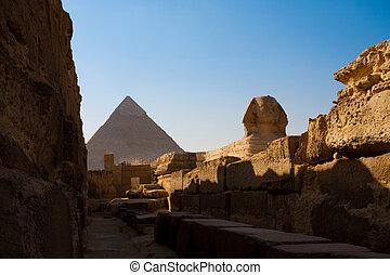 ピラミッド, スフィンクス, khafre, 通り道