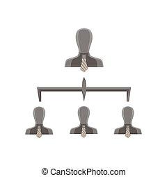 ピラミッド, ビジネス, レベル, 階層, 会社, チャート, ベクトル, チーム, 構成, 構造