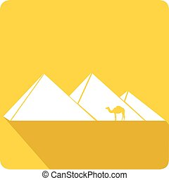 ピラミッド, ベクトル, イラスト, エジプト人