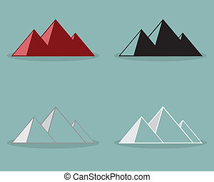 ピラミッド, ベクトル, illustration., デザイン