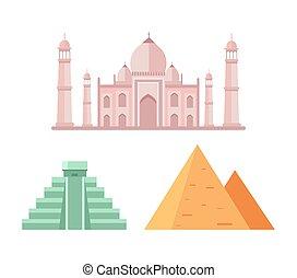 ピラミッド, ベクトル, maya, イラスト, エジプト人