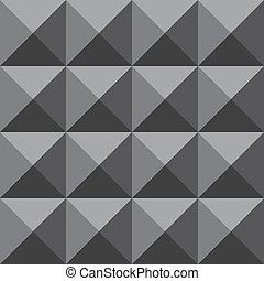 ピラミッド, 壁, grayscale, 顔, 4, 背景, trydimensional, 錯覚
