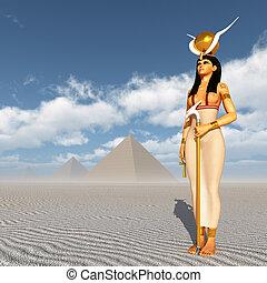 ピラミッド, 女神, hathor
