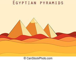 ピラミッド, 風景, エジプト人