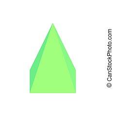 ピラミッド, 3, イラスト, 次元, ベクトル, 広場
