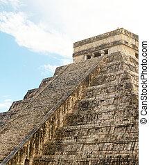 ピラミッド, chichen, mayan, mexico., itza