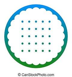 ピラミッド, illustration., isolated., 印, バックグラウンド。, vector., 白, 薄青い, 円, アイコン