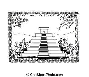 ピラミッド, mayan, chichen - itza, メキシコ\