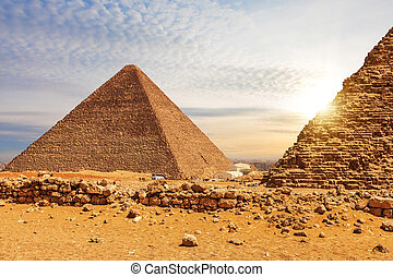 ピラミッド, menkaure, ギザ, エジプト, cheops
