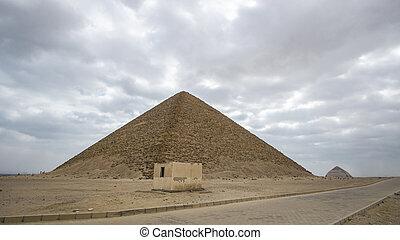 ピラミッド, saqqara, 建物, 複合センター, 赤, エジプト, 歴史, ランドマーク, 早く