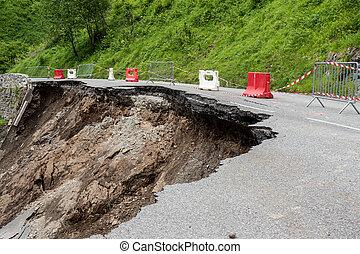 ピレネー山脈, 道, 崩壊, フランス語