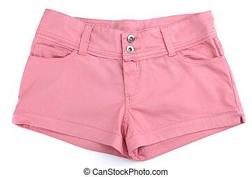 ピンクのショートパンツ