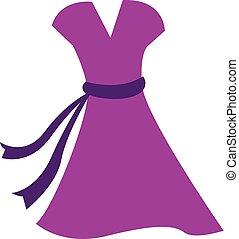 ピンクのドレス, illustration., 色, ベクトル, ∥あるいは∥
