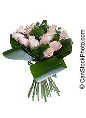 ピンクのバラ, 花束