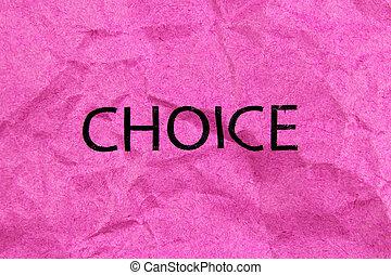 ピンクのペーパー, 単語の選択