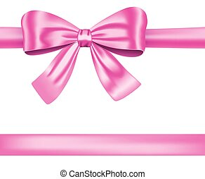 ピンクのリボン