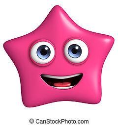 ピンクの星