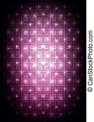 ピンクの背景, デジタル