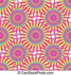 ピンクの背景, 抽象的, イラスト, ベクトル, 星, 白