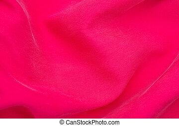 ピンクの背景, 絹