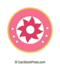 ピンクの花, カラフルである, 数字, ボーダー, 円