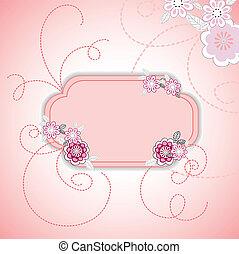 ピンクの花, カード
