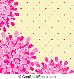 ピンクの花, グリーティングカード
