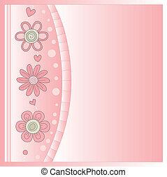 ピンクの花, ロマンチック, 背景