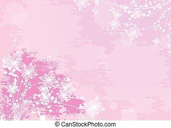 ピンクの花, 背景