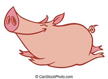 ピンクの豚