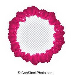 ピンクは 上がった, フレーム, petals.