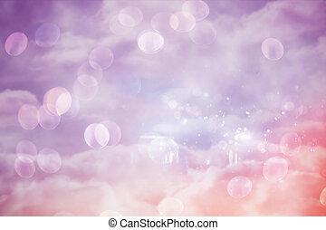 ピンク, そして, 紫色, girly, デザイン