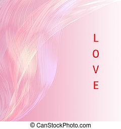 ピンク, アブストラクトが好きでありなさい, バックグラウンド。, 魅力的, アートワーク, 線, 言葉遣い