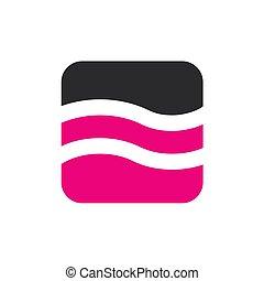 ピンク, イラスト, 水, ベクトル, デザイン, ロゴ
